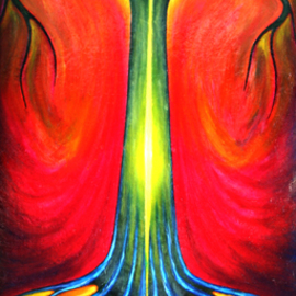 Wojtek Kowalski: 'i and you', 2002 Other Painting, Psychedelic. Artist Description: unusual, very, vibrance, vibrant, warm, other, artist, colours, drawingpencil, fantasies, feelings, galleries, giclee, graphic, imagination, ink, oil, paintin, pastels, peace, poland, psychedelic, selftaught, silence, surrealisti, thoughts, trees, watercolour, joy...