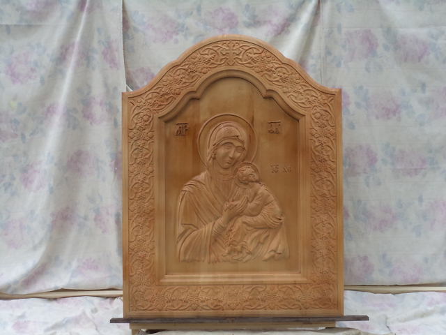Miron Costin Catalin  'Mother Of Jesus Christ ,', created in 2009, Original Bas Relief.