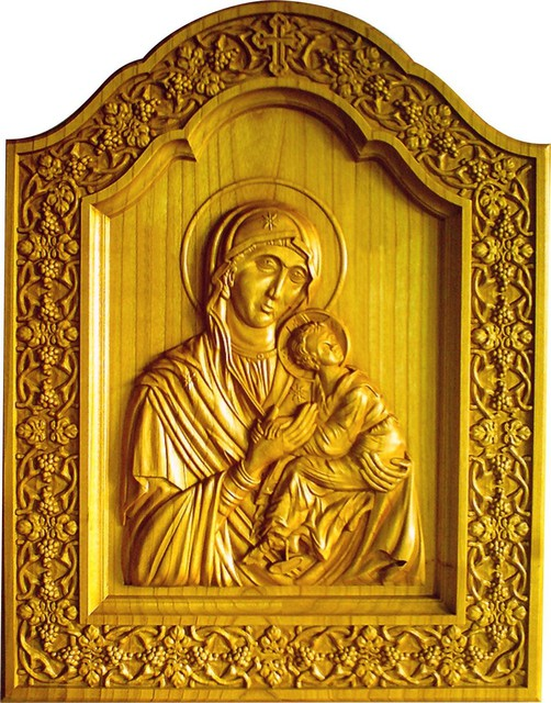 Miron Costin Catalin  'Mother Of Jesus Christ ', created in 2009, Original Bas Relief.