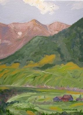 Henry Woody Lindenmeyr: 'Brush Creek and Whetstone Mt', 2005 Oil Painting, Landscape.