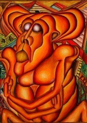 Artist: Richard Beckholt - Title: At the core of destruction - Medium: Oil Painting - Year: 2004