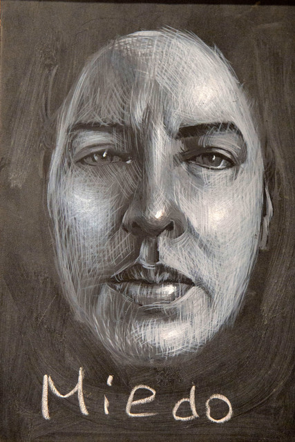 Wanda Torres  'Miedo Detail', created in 2018, Original Drawing Pencil.