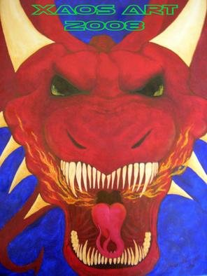 Jonathan Norrell Artwork Dragon for Zoe, 2008 Oil Painting,