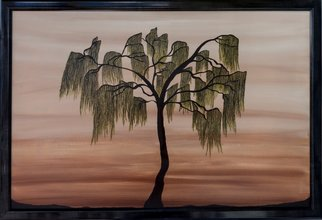 Xenia Headley Artwork Weeping Willow, 2015 Acrylic Painting, Nature