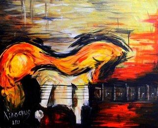 Acrylic Painting by Xiaoshuo Liu titled: Guitar, 2014