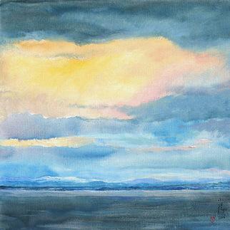 Artist: Xiaoyang Galas - Title: Blues of Leman - Medium: Oil Painting - Year: 2006