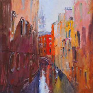 Artist: Xiaoyang Galas - Title: Light of Venise - Medium: Acrylic Painting - Year: 2010