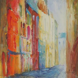 Artist: Xiaoyang Galas - Title: Poem of morning - Medium: Acrylic Painting - Year: 2010