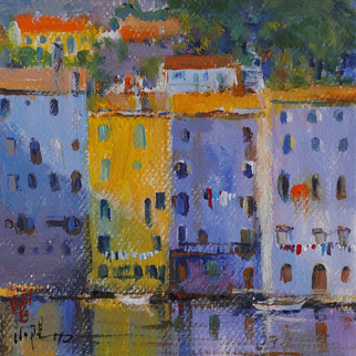 Xiaoyang Galas Artwork Somewhere, 2009 Acrylic Painting, Cityscape