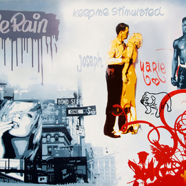 Chris Tian: 'KEEP ME STIMULATED', 2007 Acrylic Painting, Love. Artist Description:   KEEP ME STIMULATED - 2007acrylic/ vinyl paintingscreenprint, brushes, marker & spraycotton canvas on stretcher97 x 130 cm38. 2 x 51. 2 inches...