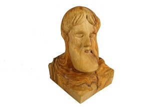 Kir Asariotis: 'zeus', 2014 Wood Sculpture, Mythology. Artist Description:   zeus ancient Athenian god. carving olive wood   ...