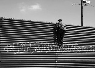 Political Black and White Photograph by Yaki Yaskvloski Title: LOS MUROS Tijuana border, created in 2007