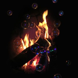 flame and bubbles