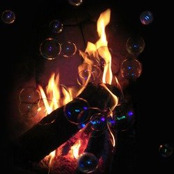 , Flame And Bubbles, Conceptual, $105