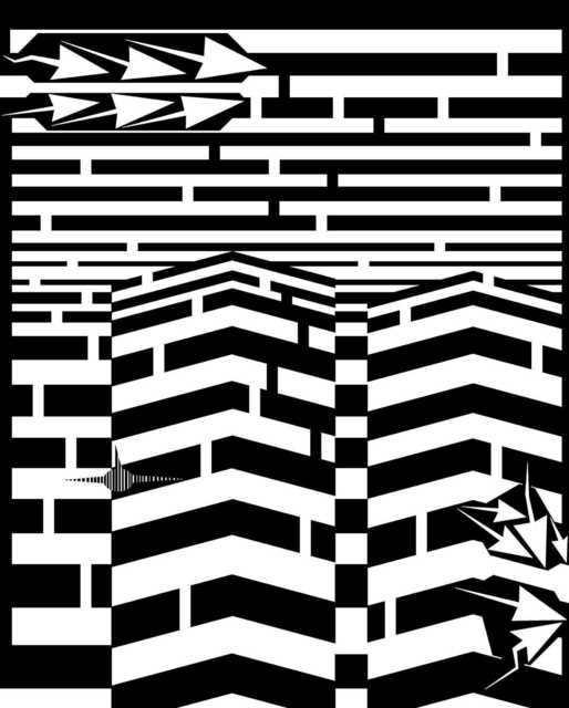 Yanito Freminoshi  'September 11th Maze', created in 2013, Original Digital Drawing.