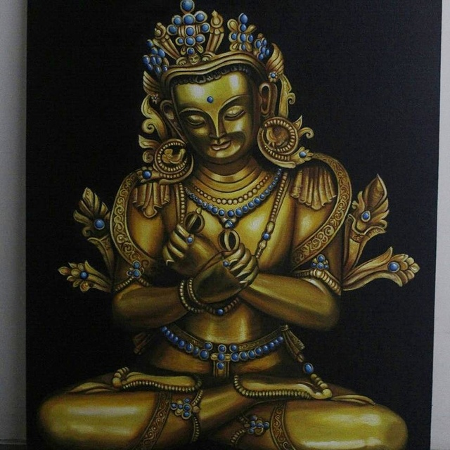 Yash Shah  'Buddha In Peace', created in 2017, Original Painting Oil.