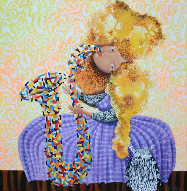 Yelena Dyumin  'Dreamtime Jazz', created in 2014, Original Mixed Media.