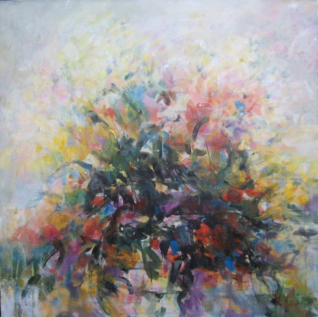 Yeoun Lee  'Garden 2', created in 2012, Original Painting Acrylic.