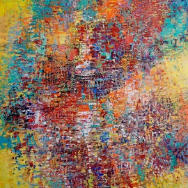 Paul Ygartua Artwork Metropolis, 2016 Acrylic Painting, Abstract