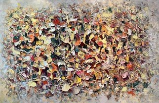 Paul Ygartua: 'fallen leaves', 2021 Acrylic Painting, Abstract. Abstract art painted with acrylics on canvas by Paul Ygartua...