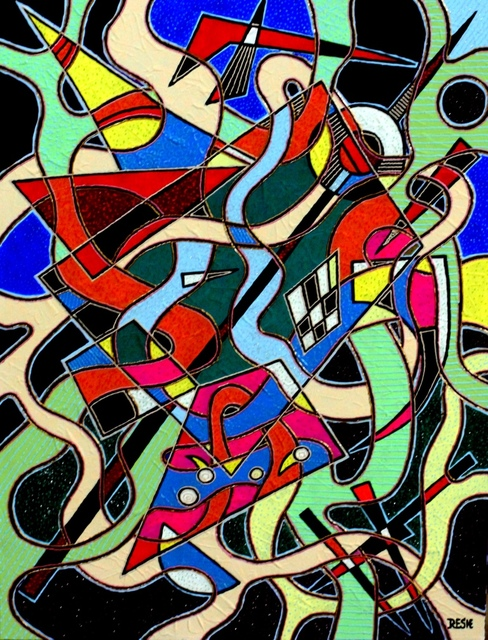 Yosef Reznikov  'Composition 72', created in 2019, Original Painting Other.