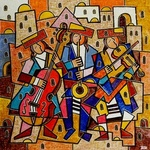 musicians in zfat By Yosef Reznikov