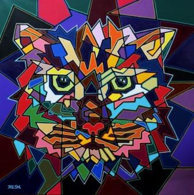 Yosef Reznikov  'Portrait Of A Cat', created in 2020, Original Painting Other.