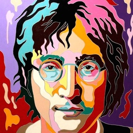 portrait of john lennon By Yosef Reznikov