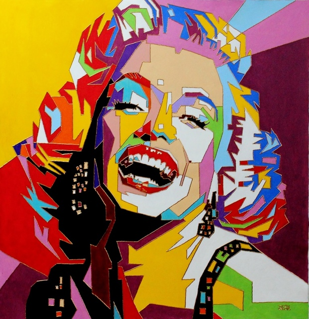 Yosef Reznikov  'Portrait Of Marylin Monroe', created in 2019, Original Painting Other.