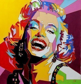 Yosef Reznikov: 'portrait of marylin monroe', 2019 Mixed Media, Portrait. A pop art portrait is the most original gift.The first images of pop art appeared in the early 60s, they combined mass culture and artistic creation.  Pop art as a movement originated in the works of British artists Joe Tilson, Peter Blake and Richard Smith.  They painted vivid images ...