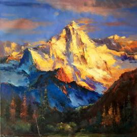 Spelendid golden mountain in Tibet 060