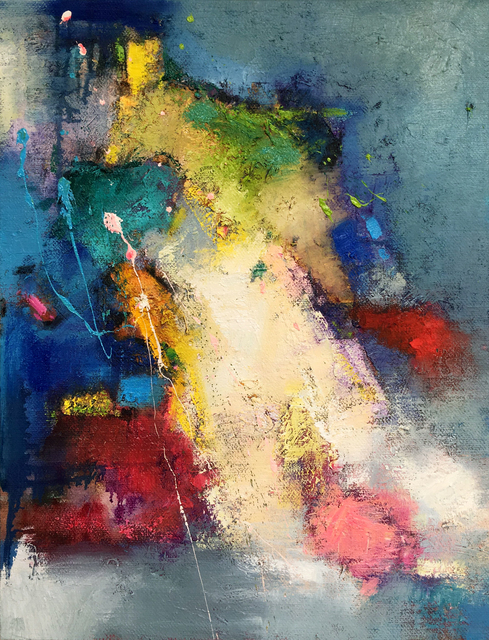 Jinsheng You: abstract 343, 2017 Oil Painting
