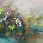 birdies on the branch 592 By Jinsheng You