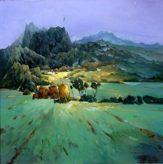 Jinsheng You: 'chinese rural scenery 253', 2017 Oil Painting, Landscape. landscape, original, oil on canvas, oil painting, wall art, deco, decor, decorative, decoration, original art, original oil painting, landscape oil painting, room, art, ...