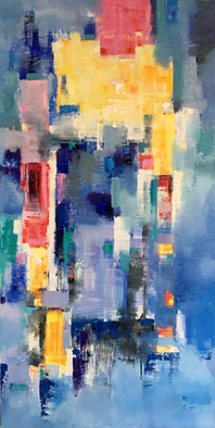 Jinsheng You Artwork cityscape abstract 256, 2017 Oil Painting, Abstract