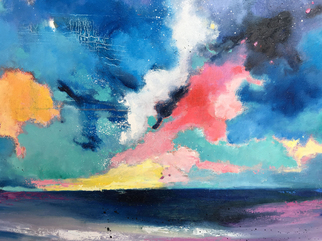 Jinsheng You Artwork cloudy sky 225, 2017 Oil Painting, Abstract