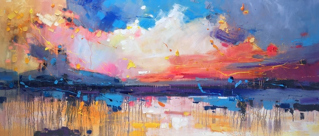 Jinsheng You  'Colorful Sky 552', created in 2019, Original Painting Oil.