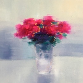 Jinsheng You: 'floral 429', 2019 Oil Painting, Still Life. Artist Description: This is an original unique oil painting on canvas. The work was signed in the back by the artist. It will be rolled in a tube for shipping. ...