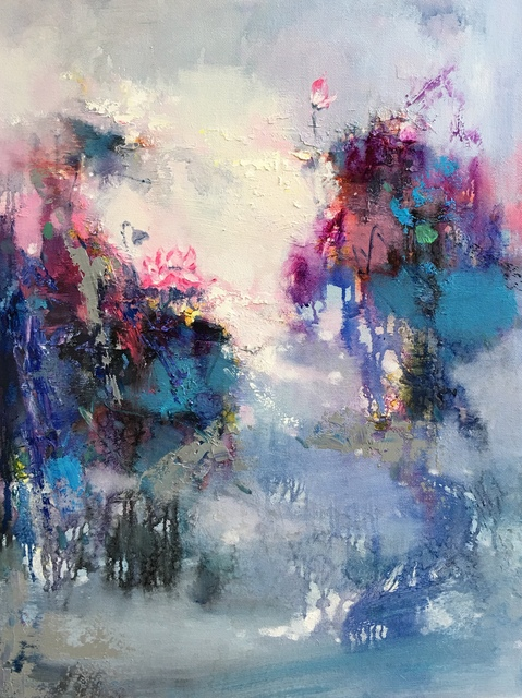 Jinsheng You  'Floral Abstract 484', created in 2019, Original Painting Oil.