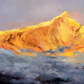 golden splendid mountain 452  By Jinsheng You