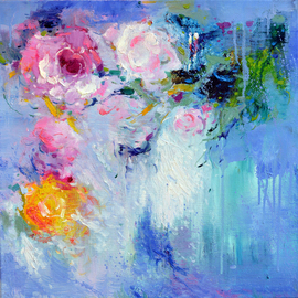 Jinsheng You: 'impression of peony 523', 2019 Oil Painting, Abstract. Artist Description: I d like to express my emotion with vibrant colors and unique brush. This is an original abstract oil painting on canvas, it is one- of- kind, i have got it done recently.Due to long distance, the painting will be rolled in a tube for shipping, without ...