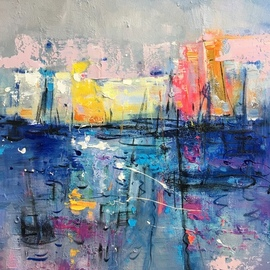 Jinsheng You: 'in the lake 482', 2019 Oil Painting, Abstract. Artist Description: I d like to express my emotion with vibrant colors and unique brush. This is an original abstract oil painting on canvas, it is one- of- kind, i have got it done recently.Due to long distance, the painting will be rolled in a tube for shipping, without ...