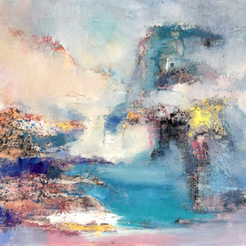 Jinsheng You - landscape abstract 311, Original Painting Oil