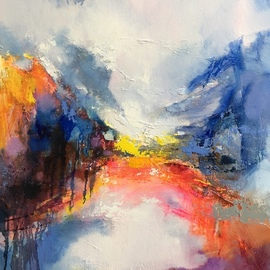 Jinsheng You: 'landscape abstract 487', 2019 Oil Painting, Abstract. Artist Description: I d like to express my emotion with vibrant colors and unique brush. This is an original abstract oil painting on canvas, it is one- of- kind, i have got it done recently.Due to long distance, the painting will be rolled in a tube for shipping, without ...