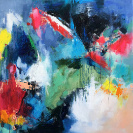 Jinsheng You: 'passion 439', 2019 Oil Painting, Abstract. Artist Description: I d like to express my emotion with vibrant colors and unique brush. This is an original abstract oil painting on canvas, it is one- of- kind, i have got it done recently.Due to long distance, the painting will be rolled in a tube for shipping, without ...