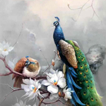 peacock and floral 395 By Jinsheng You