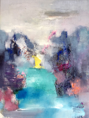 Jinsheng You Artwork river and mountains 306, 2017 Oil Painting, Abstract