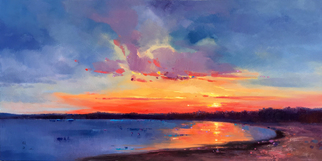 Jinsheng You Artwork sky in dawn 258, 2017 Oil Painting, Landscape