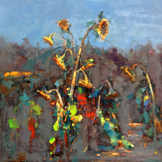 Jinsheng You Artwork sunflowers 205, 2017 Oil Painting, Floral