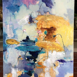 Jinsheng You Artwork waterlily , 2016 Oil Painting, Floral